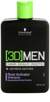 Schwarzkopf Professional [3D] MEN Shampoo für die Aktivierung der Haarwurzeln
